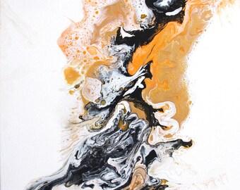 Acrylic Canvas Painting, Fluid Art, Abstract Art, wall art, home decor, painting