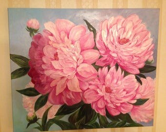 Pion Painting Handmade.