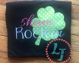 Shamrock ~ Tshirt ~ St  Paddys Day ~ Clover ~ Green