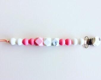All silicone pacifier clip