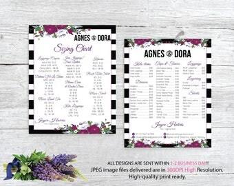 Both Card, Agnes and Dora Size Chart, Agnes and Dora Price List, Custom Agnes Dora Cards, Digital Agnes and Dora, Printable File