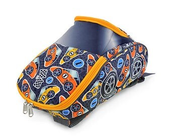 Personalized  Racing Car Children's Backpack (Orange Racer)