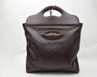 Gucci vintage bag laptor guccissima leather handbag