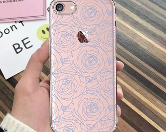 Floral case iPhone 7 iPhone 7 Plus iPhone 6 lace case iPhone SE iPhone 5s iPhone 6s iPhone 6 Plus case clear iPhone 5 case iPhone 6s case