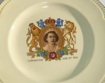 vintage 1953 coronation tea set for queen elizabeth by clarice cliff