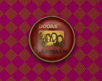 The Doors Jim Morrison LA Woman Album Cover Pin, Magnet, Keychain, or Necklace