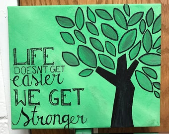 Life Doesn't Get Easier We Get Stronger