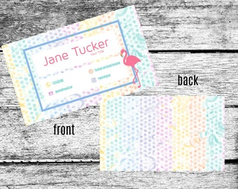 LuLaRoe Inspired Flamingo Business Cards Home Office Approved Fonts Colors