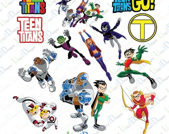 Teen titans go svg teen titans ornaments teen titans go party svg png dxf eps pdf files for Print Design t shirt Silhouette Cricut Cutting