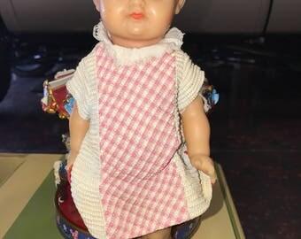 Vinyl Rubber Baby Doll Creepy Eyes