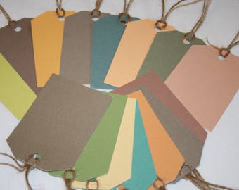 Gift Tags, All Occasion Gift Tags, Color & Texture Gift Tags, Set of 15 Gift Tags, Luggage Gift Tags