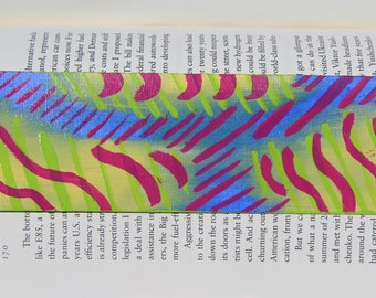 Abstract Hand Painted Bookmark