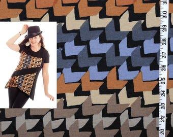 Geometric pattern ponte knit