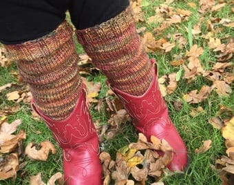 Baby & Toddler Leg Warmers - Hand Knit - Variegated
