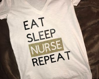Eat Sleep Nurse Repeat Tshirt