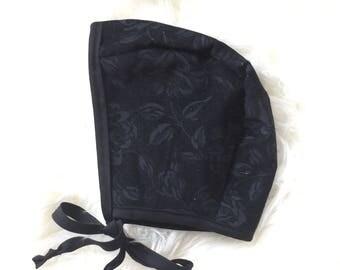 Black Rose Bonnet 6/12
