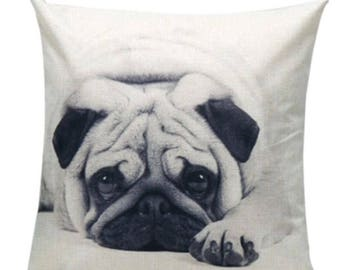 Pug pillow cover