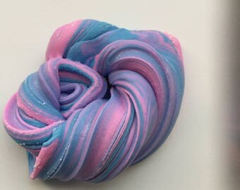 Cotton Candy Swirl Slime 2oz