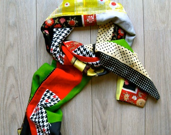 Handmade scarf in recycled materials