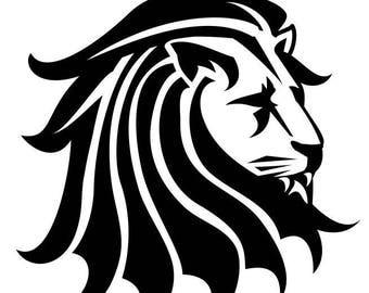 LION HEAD Decal wall art