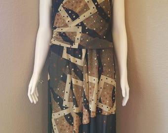 Spaghetti Strap Vintage 1980's Midi Dress