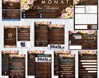 Monat Marketing Kit, Monat Bundle, Monat Kit, Monat Printable Cards, Monat Marketing Package, Monat Wooden Background, Monat Cards MN26