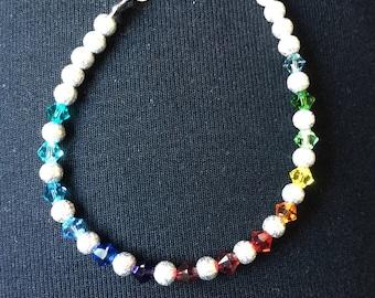 Indian inspired rainbow bracelet