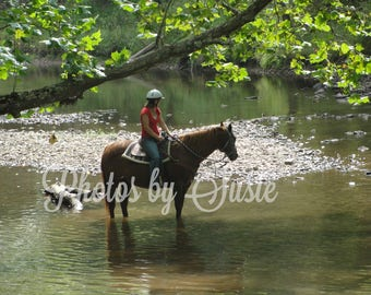 """Water Trail Ride - 16""""X20"""" Photo"""