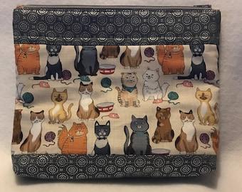 Here, Kitty, Kitty Cosmetic Bag