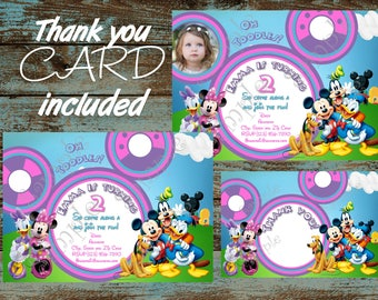 Mickey Mouse Clubhouse Invitation, Minnie Mouse Clubhouse Invitation, Mickey Mouse Printable Invitation, Mickey Mouse and Friends Invitation