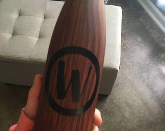 Personalized Woodgrain Travel Waterbottle