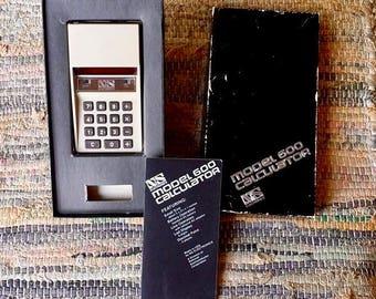 Vintage NS Electronics Model 600 red led Calculator