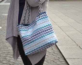 Small modern tote bag
