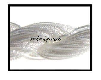X 5 meters of thread nylon macramé, white shamballa.