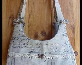 """My Angels"" linen handbag"