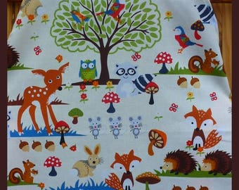 """Apron cooking """"Forest animals"""", single model"""