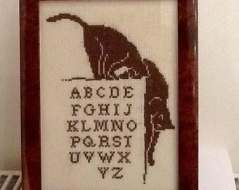 Frame Brown acrobats cats alphabet