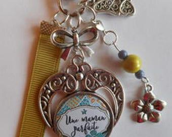 "Bag charm, door keys/MOM / ""A perfect MOM"" / gift/mothers day / thanks/Christmas/birthday"