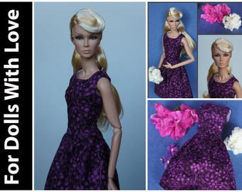 PDF Doll Clothes Pattern: New Look Dress for Integrity Nu Face and Model Muse Barbie