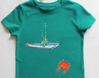 Child t-shirt in pure cotton, tg. 5 years-submarine