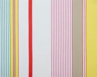 Coupon, canvas, BASQUE, cotton, MULTICOLORED stripes