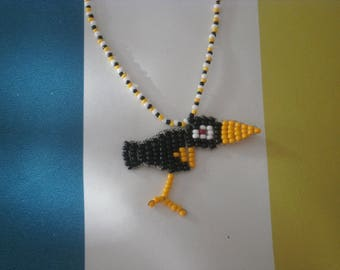 """Necklace """"Black Raven"""" seed beads."""