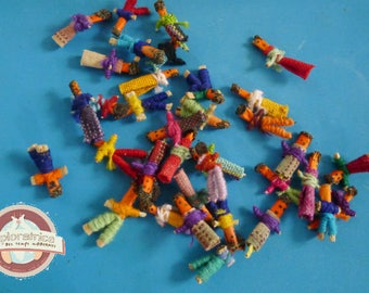 set of 36 dolls lucky Mexican 15X20MM