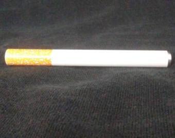 "One Hitter Cigarette Pipe, Dugout Pipe, Metal Bat, Smoking Pipe, Length 3"""