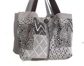 Ethnic style fabric tote bag.