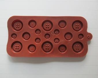 Mold silicone shape buttons
