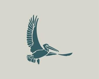 Pelican stencil. Adhesive vinyl stencil. Pelican (ref 108)