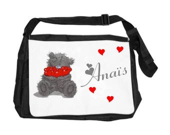 Teddy bear bag personalized with name