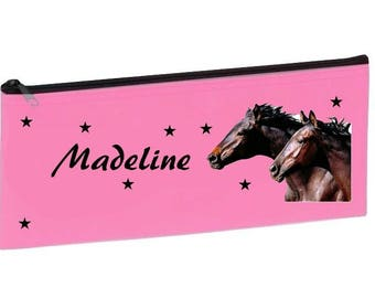 Personalized with name pink horses School Kit