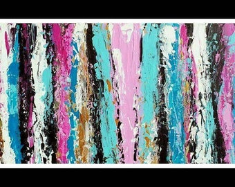 Modern art painting home decor 12x24 pastel colors/ Art moderne peinture décoration intérieure couleurs pastels